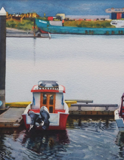 Alaskan Harbor - Watercolor - 21x29