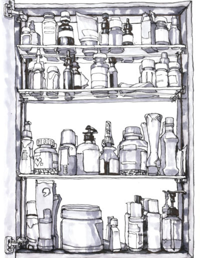 Bathroom Cabinet - Ink - 12x9