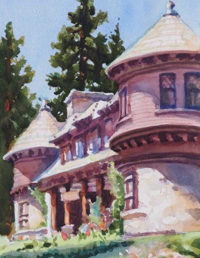 Hellman - Ehrman Mansion - Watercolor - 14x11