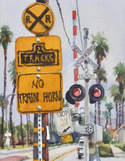 No Train Horn - Watercolor - 14x11