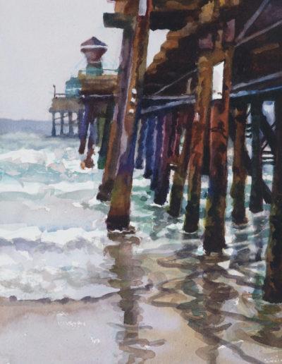 Ocean Beach Pier - Watercolor - 14x11
